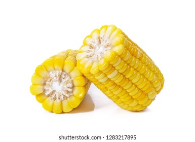 ears of Sweet corn isolated on white background.