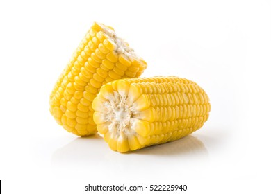 ears of Sweet corn isolated on white background