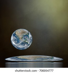 Earth art.  Earth or flat earth. Background. Note: Elements of this image furnished by NASA.