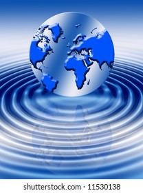 earth background with water