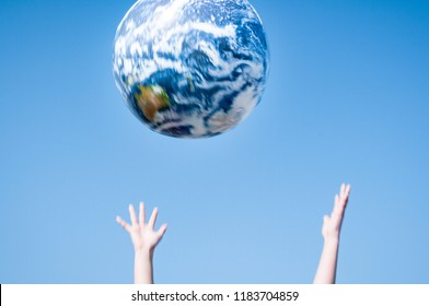 Earth ball to catch sight