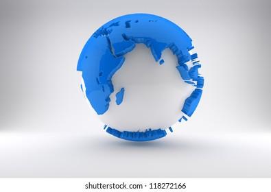 Earth in Blue