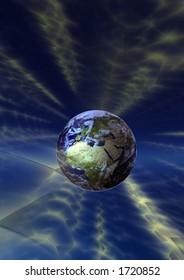 Earth broadcasting