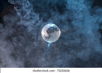 Earth  cover smog. Concept image of a polluted earth