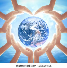 Earth day concept: Elements of this image furnished by NASA