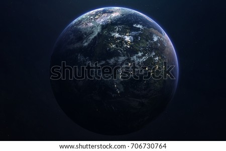 Earth Deep Space Image Science Fiction Stock Photo Edit Now