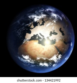 Earth During The Last Ice Age:  2.6 million years ago