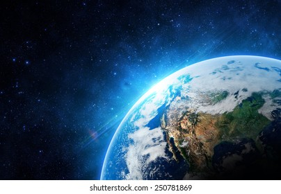 The Earth - Elements of this Image Furnished by NASA