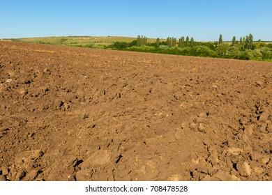Earth in a field for agricultural cultivations