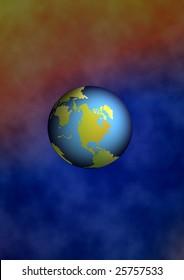 earth is floating in spcae