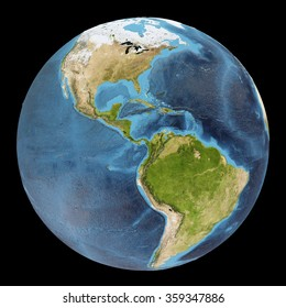The Earth / Gaia / Terra - View of the Americas - Elements of this image furnished by NASA