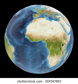 The Earth / Gaia / Terra - View of the Atlantic ocean - Elements of this image furnished by NASA