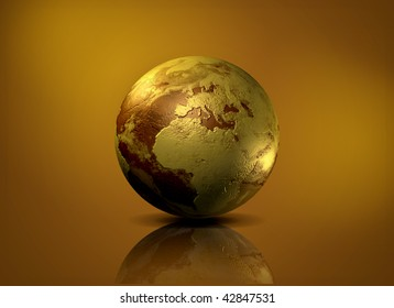 Earth globe - 3D computer graphics