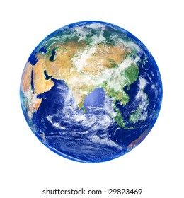 Earth Globe, Asia, high resolution image