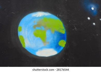 Earth graffiti