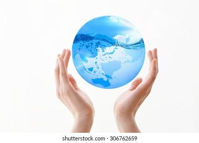 The earth, hand