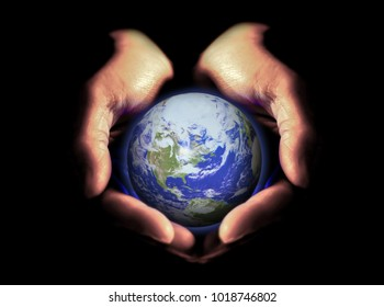 Earth and hands