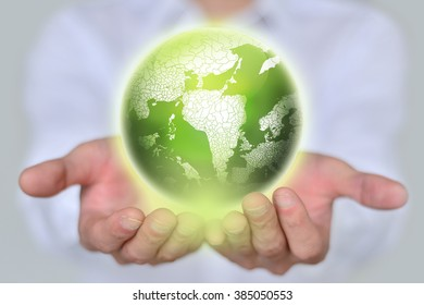 Earth in hands.ecology, concept.
