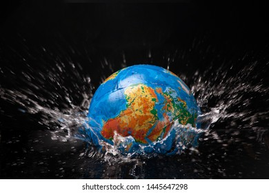 Earth is immersed in water .