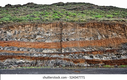Earth layers in Tenerife