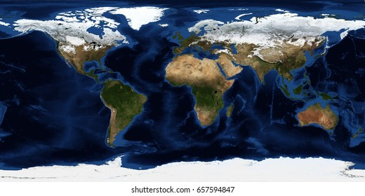 Earth map in expanded view.  Some elements provided courtesy of NASA