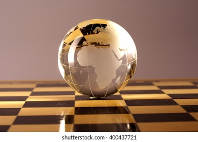 Earth on chess board