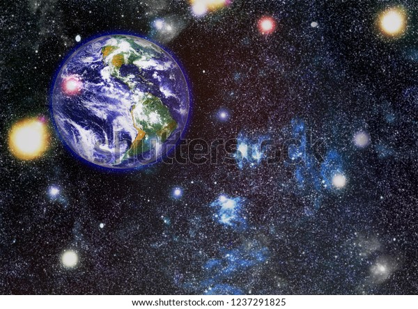 Earth Outer Space Collage Abstract Wallpaper Stock Photo Edit Now