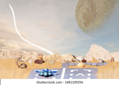 Earth outpost on extrasolar planet