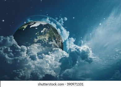 Earth in the skies, abstract environmental backgrounds