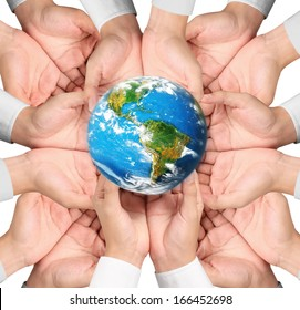 """earth social in human the hand """"Elements of this image furnished by NASA"""""""