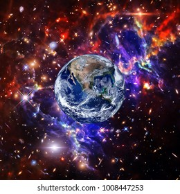 Earth and space. The elements of this image furnished by NASA.