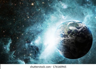 Earth and space, Elements of this image furnished by NASA