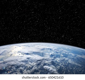 Earth and starfield. Elements of this image furnished by NASA.