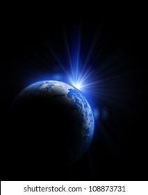 earth and sun