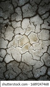 earth texture with cracks and vignette