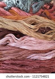 earth tone colour handmade cotton yarn