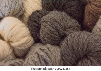 Earth Tones Textured Yarns