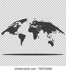 earth Transparent for web design