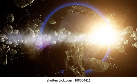 Earth is under asteroids attack