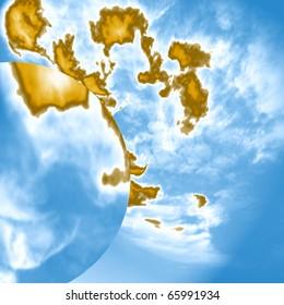 Earth, water, air