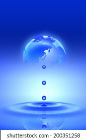 Earth And Water Drop