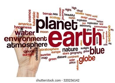 Earth word cloud