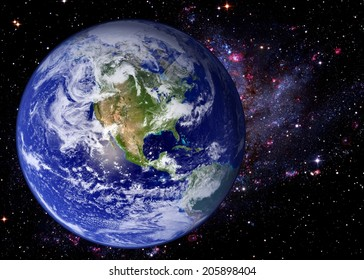 Earth world galaxy stars space universe background. Elements of this image furnished by NASA.