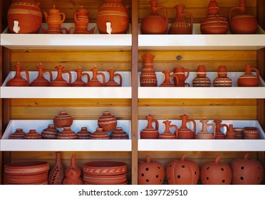 earthen water jugs, containers and bowls