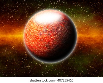 Earth-Like Exoplanet Atmosphere - Abstract Illustration