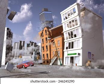 Earthquake in a city