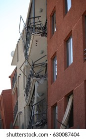 Earthquake damage on a Building in Chile