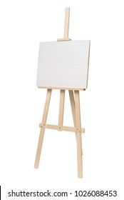 Easel empty for drawing isolated on white background. Object