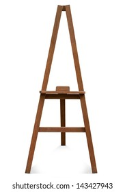 easel isolated on a white background.