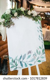 The easel with numbers are for guests